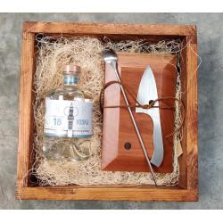 Caja vodka + set herramientas